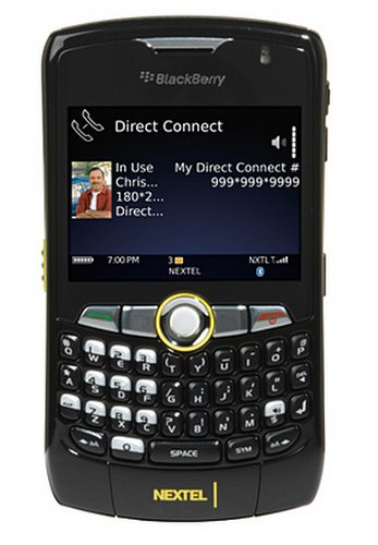 Blackberry Curve 8350i Actual Size Image