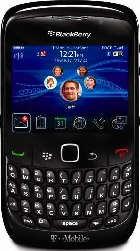 BlackBerry Gemini 8520 Actual Size Image