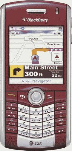 BlackBerry Pearl 8110 Smartphone Red (AT&T) Actual Size Image