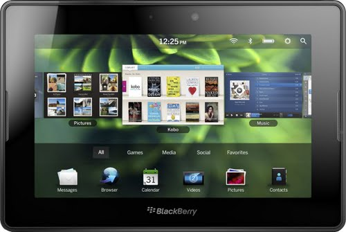 Blackberry Playbook Actual Size Image