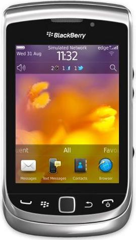 BlackBerry Torch 9810 Actual Size Image