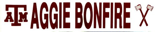 Bonfire Bumper Sticker Actual Size Image