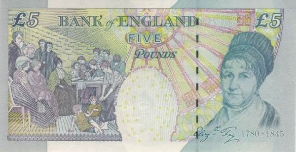 British 5 Pound Note (2) Actual Size Image