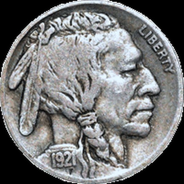 Buffalo Nickel Actual Size Image