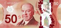 Canadian fifty dollar note Actual Size Image