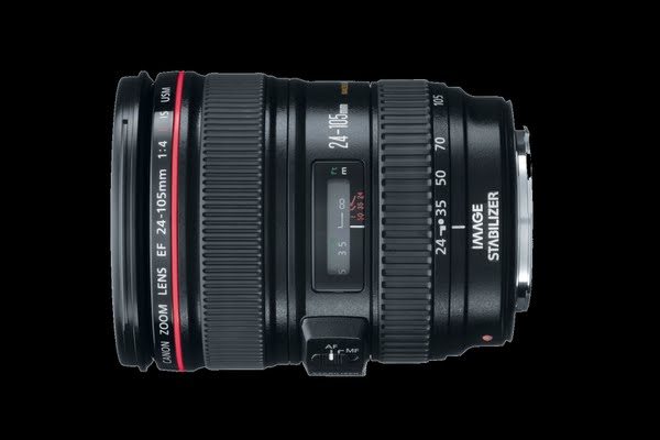 Canon EF 24-105mm f/4 L IS USM Lens Actual Size Image