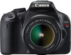 Canon EOS Rebel T2i Actual Size Image