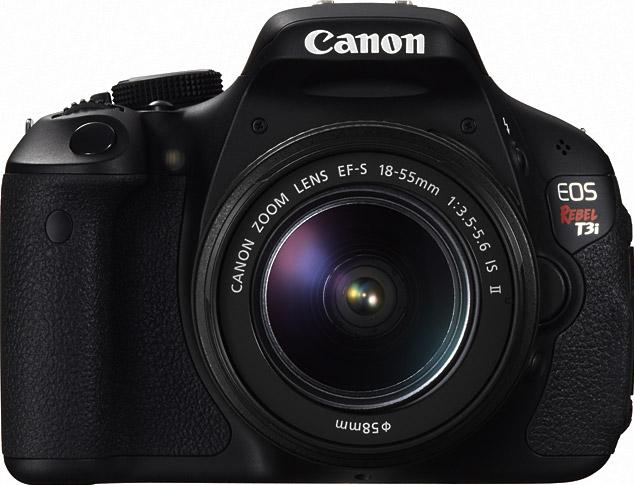 Canon EOS Rebel T3i Actual Size Image