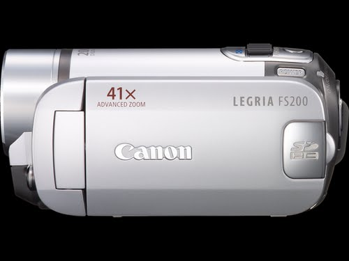 Canon fs200 Camcorder Actual Size Image