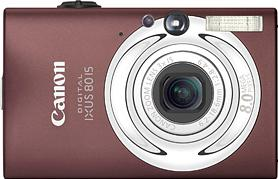 Canon IXUS 80 IS Actual Size Image
