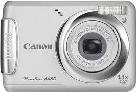 Canon PowerShot A480 Actual Size Image