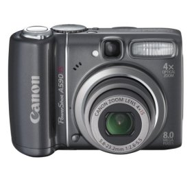 Canon Powershot A590 Actual Size Image