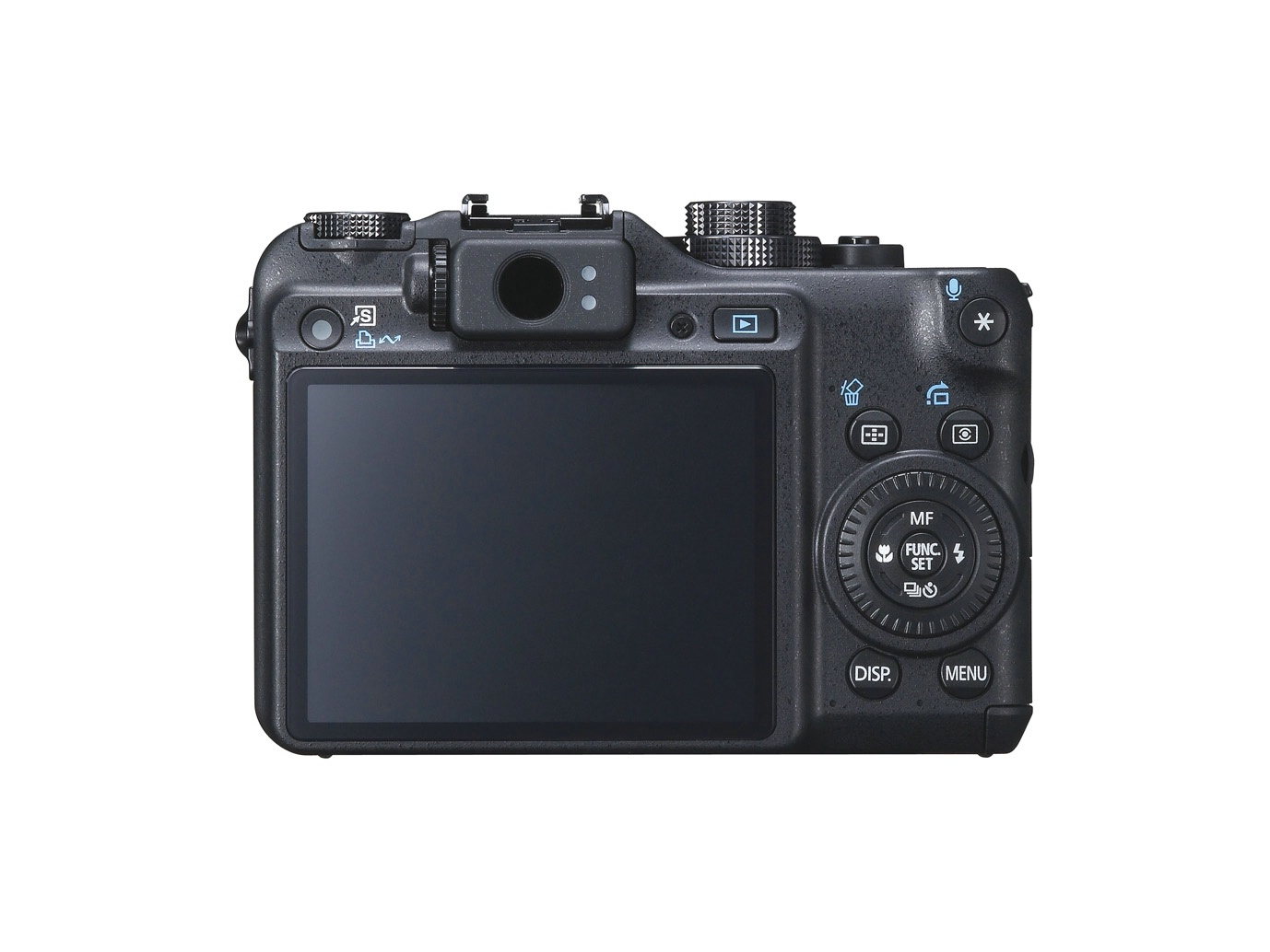 Canon Powershot G10 - Rear Actual Size Image