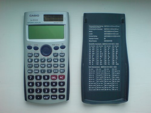 Casio Calculator fx-991 ES Actual Size Image
