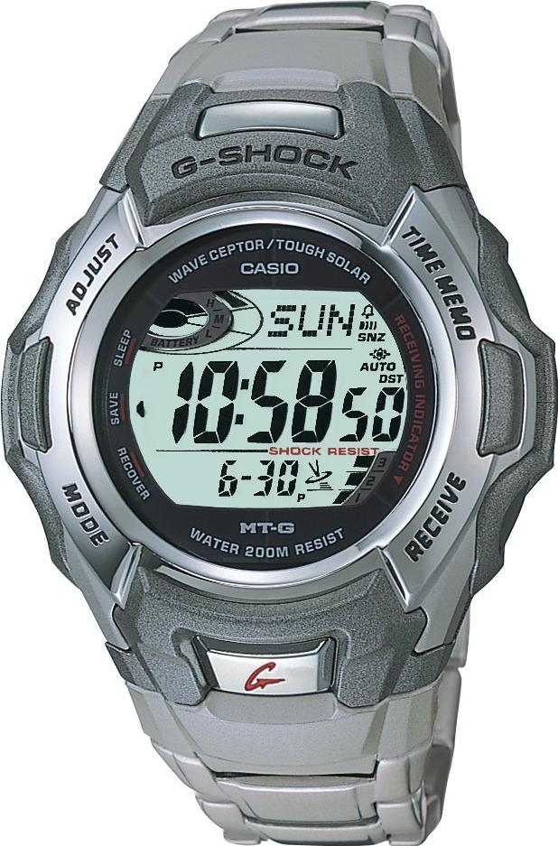 Casio Men's G-Shock Stainless Watch MTG900DA-8V Actual Size Image