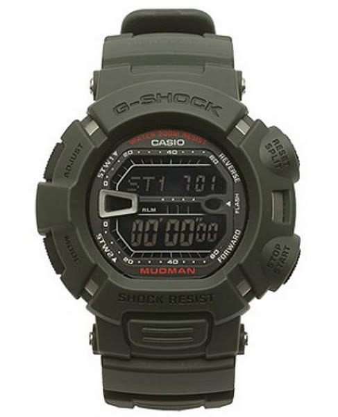 Casio Men's G9000MS-1CR Digital Watch Actual Size Image
