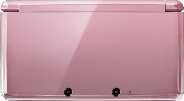Closed 3DS Coral Pink Actual Size Image