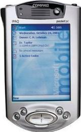 Compaq iPAQ Pocket PC H3950 Actual Size Image