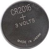 CR2016 battery Actual Size Image