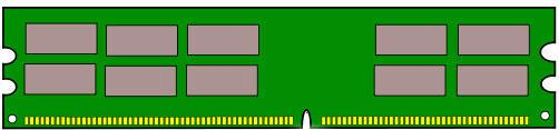 DDR SDRAM Actual Size Image