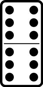 Domino tile Actual Size Image
