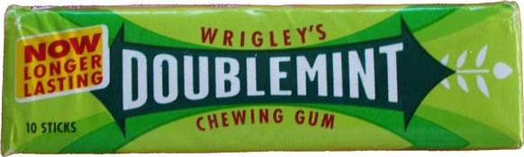 Doublemint Chewing Gum Actual Size Image