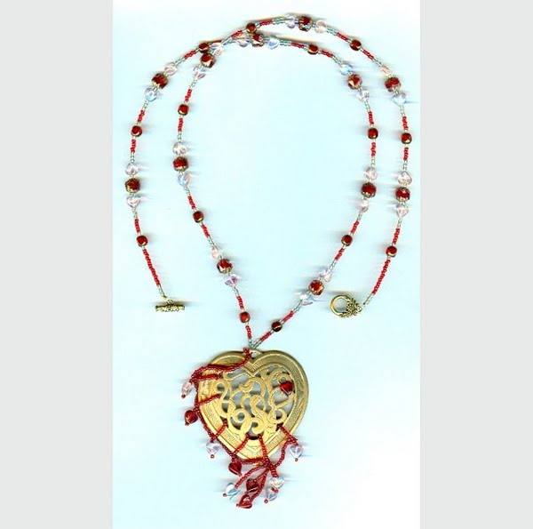 Dragon's Heart Necklace Actual Size Image