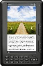 Ematic 7 TFT Color eBook Reader Actual Size Image