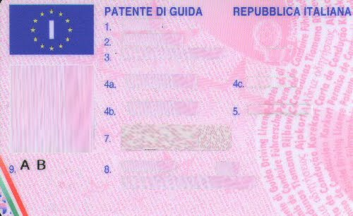 European Driving License (2) Actual Size Image
