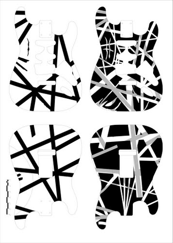 frankenstrat template Actual Size Image