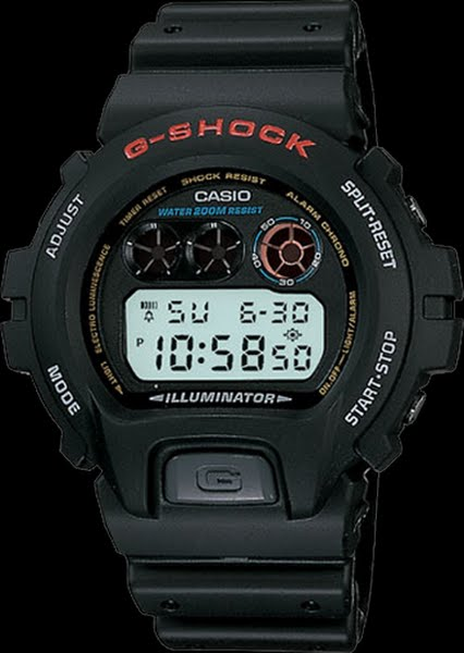 G-Shock DW6900-1V Actual Size Image