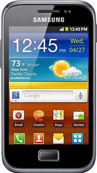 Samsung Galaxy Ace Plus S7500 Actual Size Image