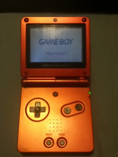 Gameboy Advance SP Actual Size Image