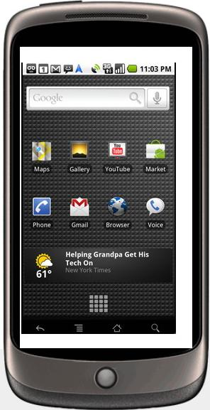 Google Nexus One Actual Size Image