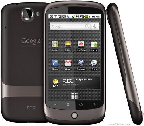Google Nexus One (2) Actual Size Image