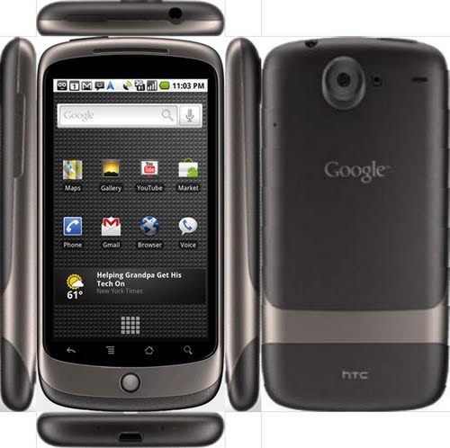 Google Nexus One Full body Actual Size Image