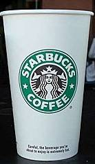 Grande Starbucks Coffee Cup Actual Size Image