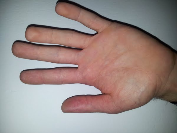 Hand of a 28 years old man whose height is 152 cm. compare and comment as you want. Actual Size Image