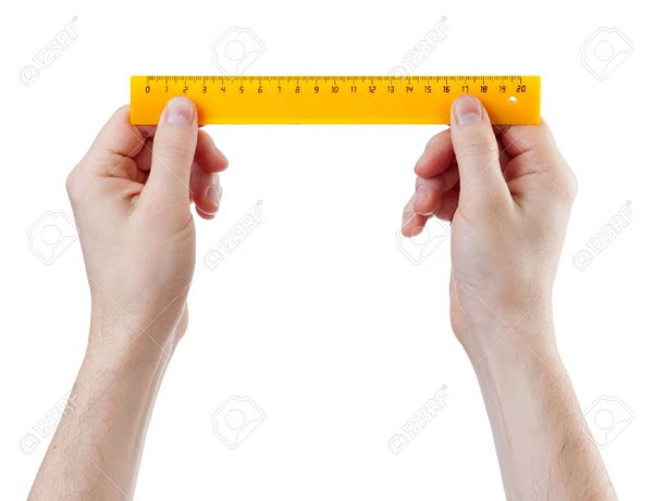 Hands with ruler Actual Size Image