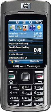 HP iPAQ 510 Voice Messenger Actual Size Image