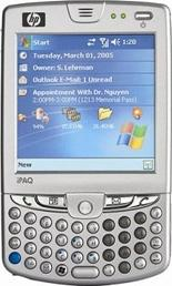 HP iPAQ hw6510 Actual Size Image