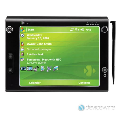 HTC Athena x7500 Advantage Actual Size Image