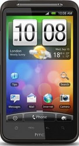 HTC Desire HD Actual Size Image