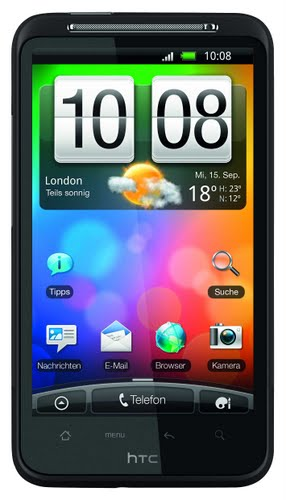 HTC Desire HD (2) Actual Size Image