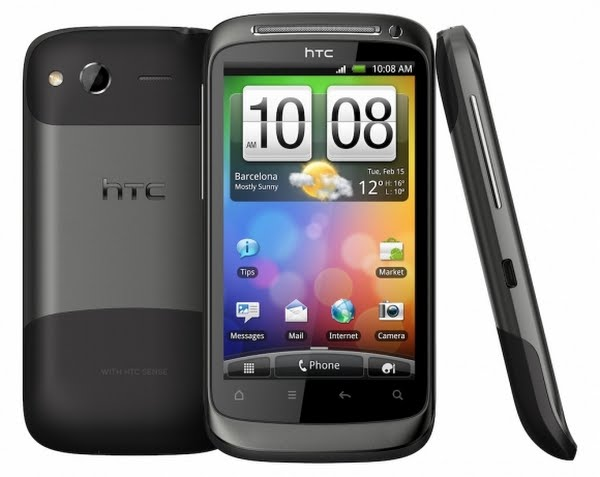 HTC Desire S Actual Size Image