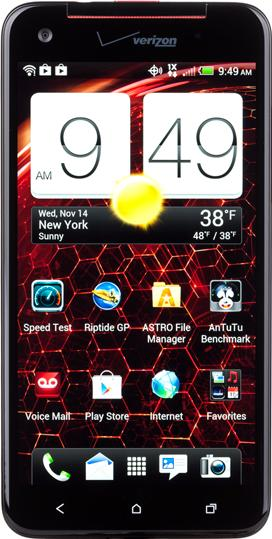 HTC Droid DNA Actual Size Image