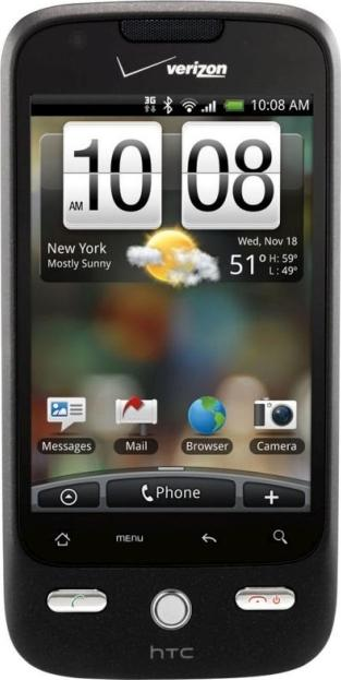 HTC DROID ERIS Actual Size Image