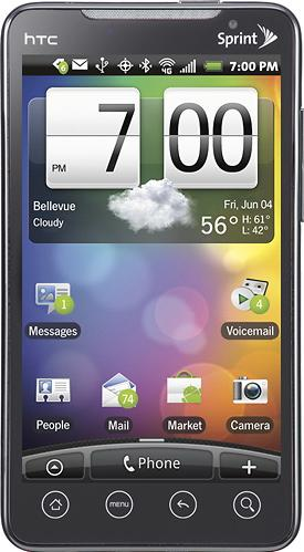 HTC Evo 4G Actual Size Image