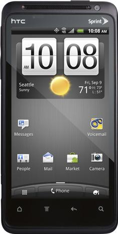 HTC EVO Design 4G Actual Size Image