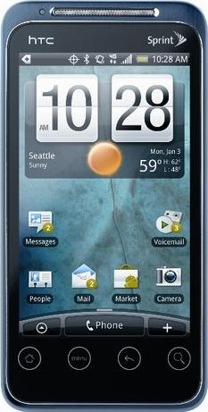 HTC Evo Shift 4G Actual Size Image
